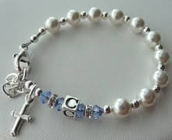personalized rosary sterling silver baby girl baptism personalized rosary bracelet