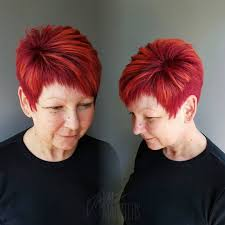 90 classy and simple short hairstyles for women over 50 red