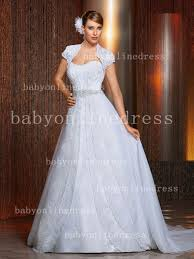 a line lace wedding dresses strapless appliques beaded sash chapel