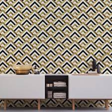 Removable Wallpaper Tiles by Art Deco Wallpaper Geometric Wallpaper Self Adhesive