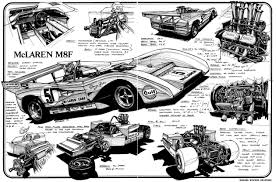 mclaren f1 drawing peter revson mclaren m8f chev 1971 u2026 primotipo