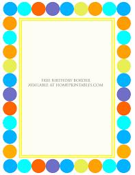 free birthday invitations designs free birthday borders for invitations home printables