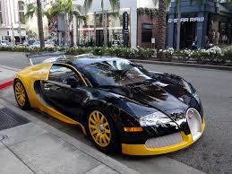 car bugatti gold custom yellow u0026 black bugatti veyron spotted in beverly hills