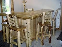 white cedar log bar u2014 barn wood furniture rustic barnwood and