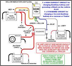 wiring diagram for caravan battery charging circuit and