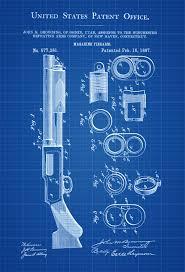 Browning Wall Decor Browning Magazine Firearm Patent Print Wall Decor Gun Art