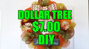 fall deco mesh wreath 7 at dollar tree