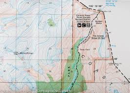 Alaska Topo Maps by Trail Map Of Chilkoot Trail Klondike Gold Rush Alaska British