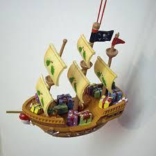 ornament pirate ship resin mingles