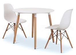 White Round Table And Chairs by Eiffel Designer Dining Set White Round Table U0026 2 White Chairs Sale