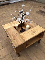 Coffee Table Box Wooden Box Crates Coffee Table Creative Ideas For Wine Crates