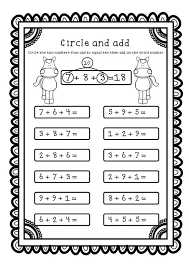 adding 3 numbers add all three adding three numbers addition worksheets