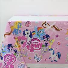 my little pony kids favors tablecover cartoon theme birthday party