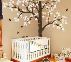 Tree Wall Decal For Nursery Corner Oak Tree Ladybird Wall Decals Nursery Baby Decor Arts