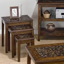 3 piece nesting tables belfort essentials baroque brown 3 piece nesting chairside table