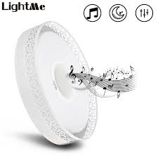 recessed lighting bluetooth speaker lightme 4160lm led music flush mount ceiling light bluetooth control