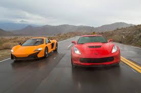 mclaren vs balance of power chevrolet corvette z06 and mclaren 650s spider