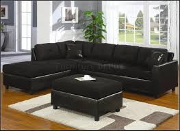 Sectional Sofa Dimensions Luxury Black Suede Sectional Sofa 69 On Leather And Fabric