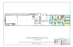 floor plan key 1047 commonwealth ave floor plan housing boston university