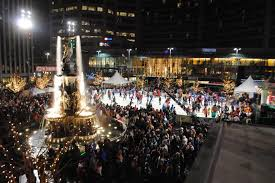 macy s light up the square downtown cincinnati