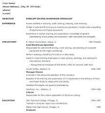 Warehouse Resume Template Free Sample Resume For Warehouse Position Warehouse Associate Resume