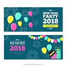 imagenes graciosas año nuevo 2018 banners graciosos de fiesta de año nuevo 2018 descargar vectores