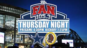105 3 the fan listen live live blog washington redskins vs dallas cowboys cbs dallas fort