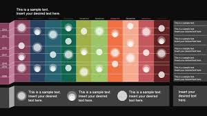 powerpoint timeline matrix layout slidemodel