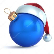 blue santa hat christmas ornament new year bauble decoration blue santa hat