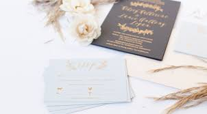 Gold Foil Wedding Invitations Foil Greenery Invitations Paper Rock Scissor