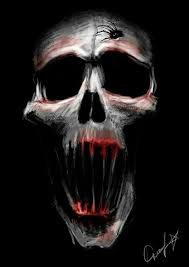 horror skull horror creepy and scary