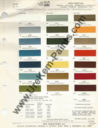 1970 pontiac gto car paint colors urekem paints