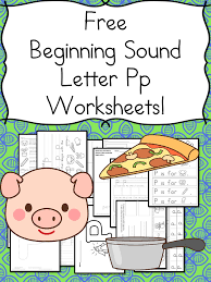 beginning sounds letter p worksheets free and fun