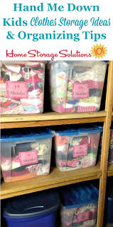 Clothing Storage by Hand Me Down Kids Clothes Storage Ideas U0026 Organizing Tips
