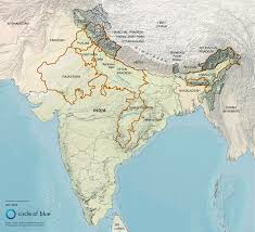Karakoram Range Map India Large Color Map Geography Of India And Indian Subcontinent