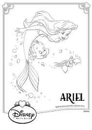 Coloriage Disney Ariel Polochon Sébastien