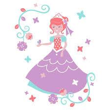 sticker mural princesse motif enfant fille pour votre