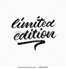 limited edition limited edition ink lettering modern stock vector 499560697