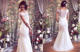 Vintage Style Wedding Dresses Inspired Lace Wedding Dress With Statement Back