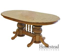 Kitchen Table Pedestals Double Pedestal Dining Table Fpudining