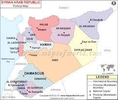 map of syria political map of syria syria provinces map