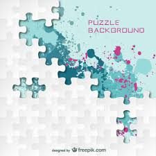 puzzle splash color background vector free download