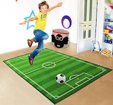 Football Field Rug For Kids Kids Football Field Carpet Boys Girls Playroom Bedroom Floor Rug