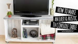 Rustic Tv Console Table Diy Easy Rustic Tv Console Table