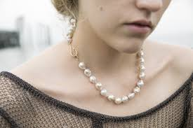 pearl necklace knot images Knotted baroque pearl necklace with barnacles hannah blount jewelry jpg