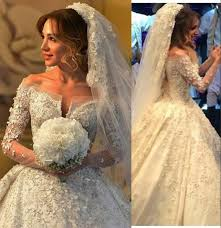 luxury wedding dresses discount luxury wedding dresses 2016 shoulder v neck lace