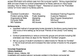 Library Assistant Resume Example by Best Librarian Assistant Resume Reentrycorps