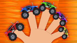 monster truck racing video sports car monster truck sports car finger family racing car