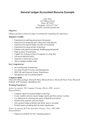 cover letter general ledger accountant resume general ledger