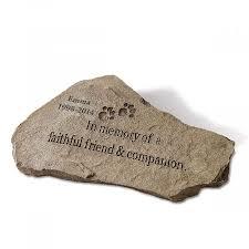 pet memorial garden stones personalized pet memorial garden lillian vernon